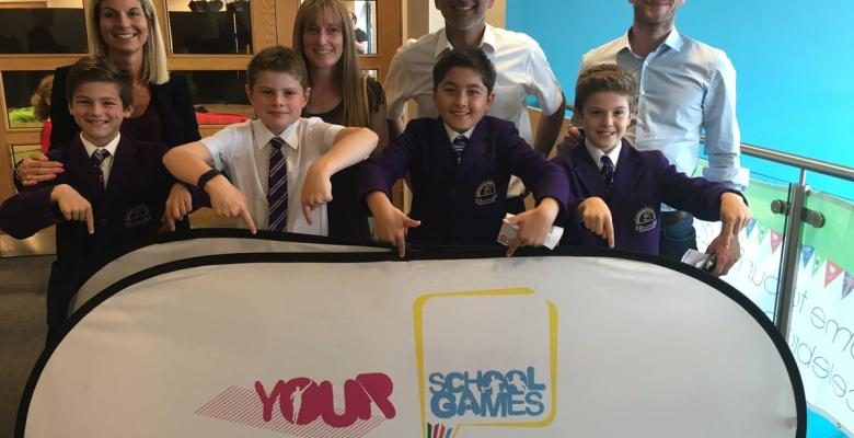 Year 5 swimming team named Trafford Team of the Year
