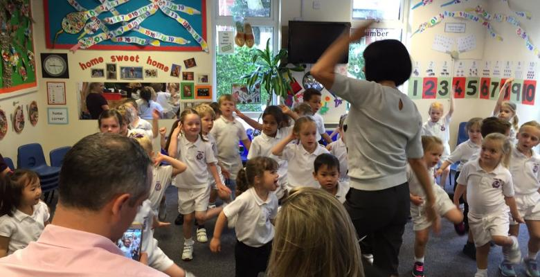 Pre-Prep's enthusiastic assembly