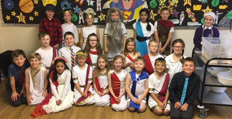 Year 5 present 'It's all Greek to me!'