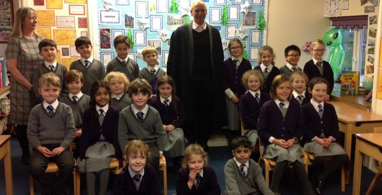 Judge Rinder visits Year 3