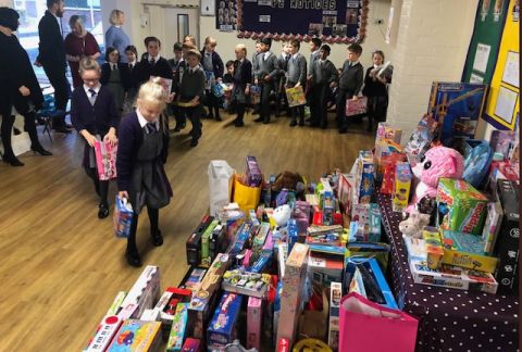 Giving to Charity: Toy Collection Assembly